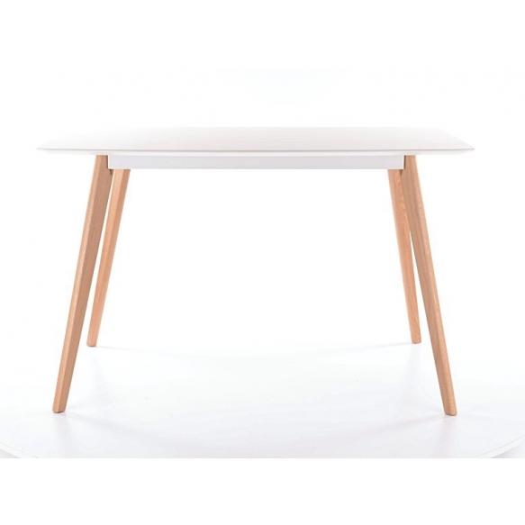 dining table Nordic, white/oak 140x80 cm