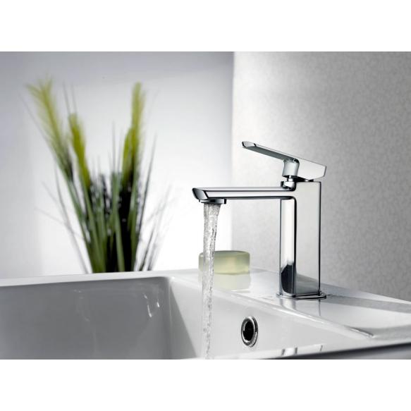 MIXONA basin mixer without pop up waste, chrome