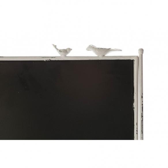 metal vintage shelf on wheels, with chalkboard