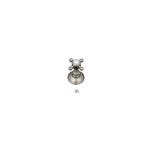 """3-part wall mount basin mixer Arena, finish """"satin nickel"""", pop-up included"""
