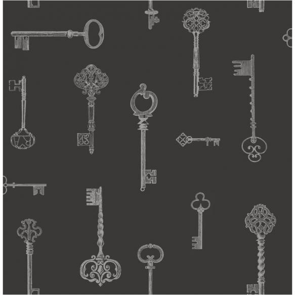Keys Sidewall, Black / Silver