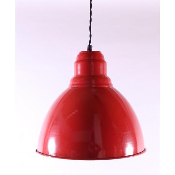 red metal ceiling lamp