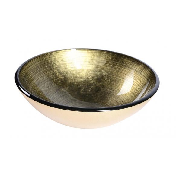 klaasist valamu tööpinnale Fianna, kuldne metallik