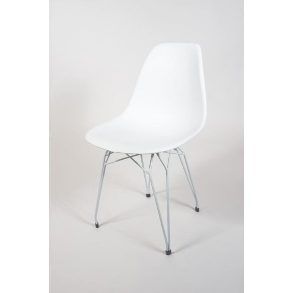 "chair Alexis, white, white metal ""Y"" feet"