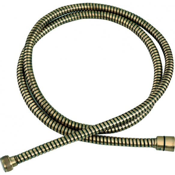CONIC BRASS FLEXIBLE HOSE DOUBLE GRAF BRONZE 1.5 M