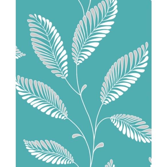 Accents Leaf Turquosie/Grey
