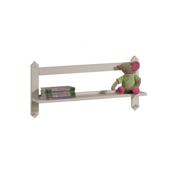 Shelf with hangers, beige