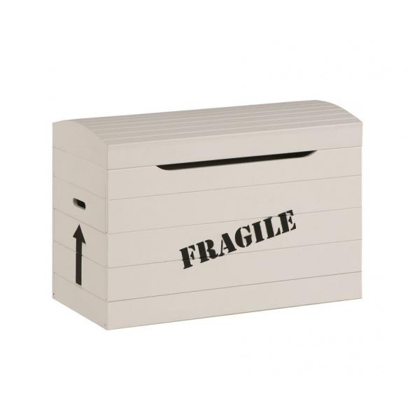 "Toy box ""Fragile"", beige"