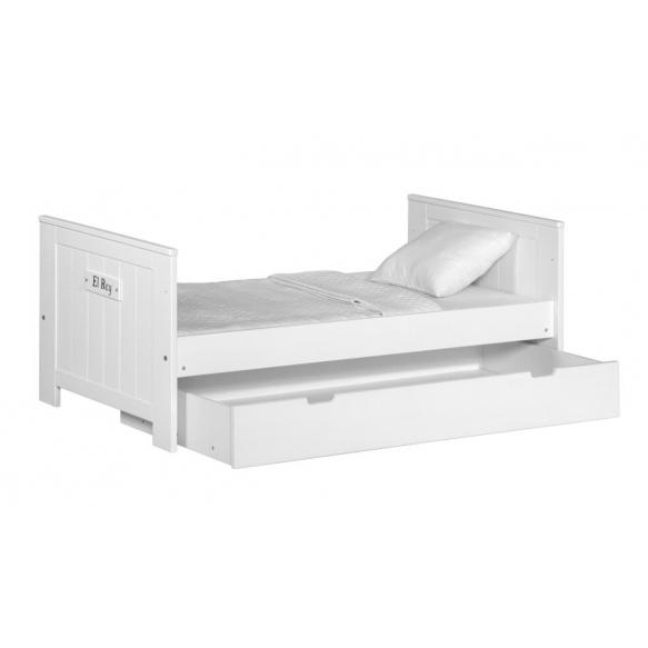 beebivoodi Blanco, 140x70, ilma voodikastita, valge