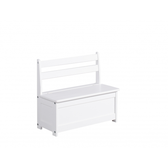 Children's bench-Toy box, white