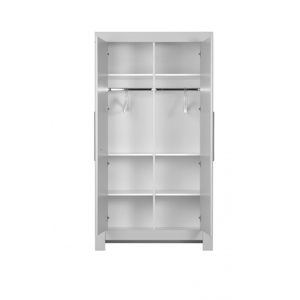 Calmo - 2-door wardrobe, grey