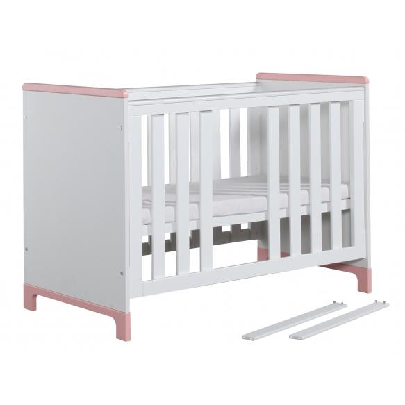beebivoodi Mini, 120x60, voodikast ei kuulu hinna sisse, valge+roosa