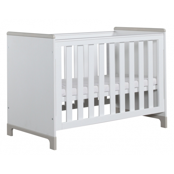 Mini - cot 120x60, white+grey