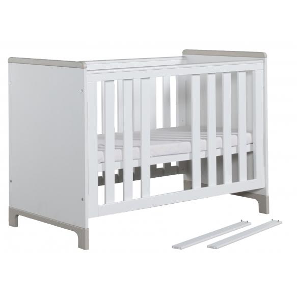 beebivoodi Mini, 120x60, voodikast ei kuulu hinna sisse, valge+hall