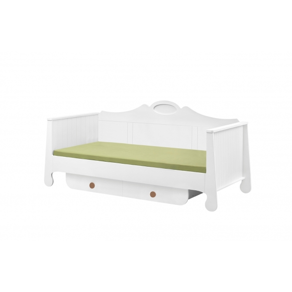 Parole - bed 200x90, white+brown