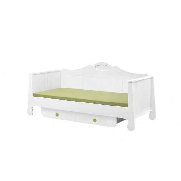 Parole - bed 200x90, white+green