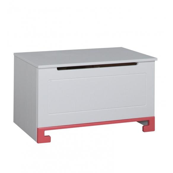 ToTo - toy box,white+pink