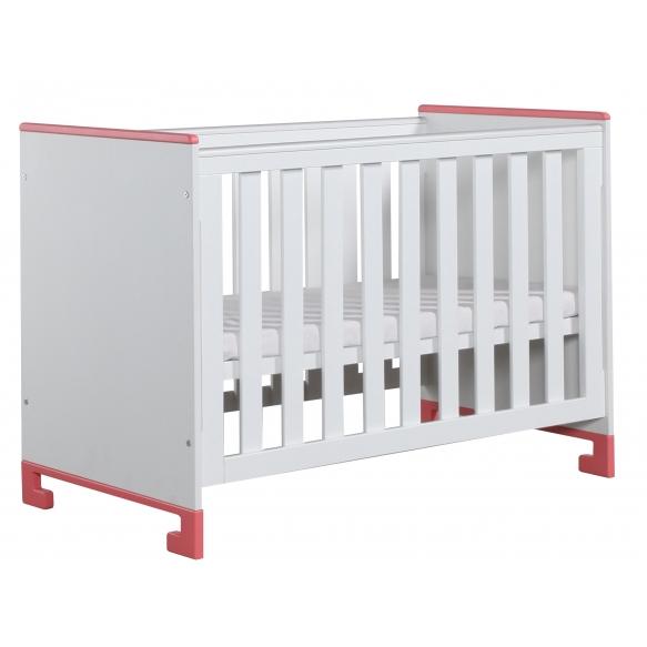 beebivoodi Toto, 120x60, voodikast ei kuulu hinna sisse, valge+roosa