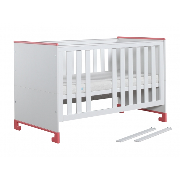 ToTo - cot-bed 140x70,white+pink