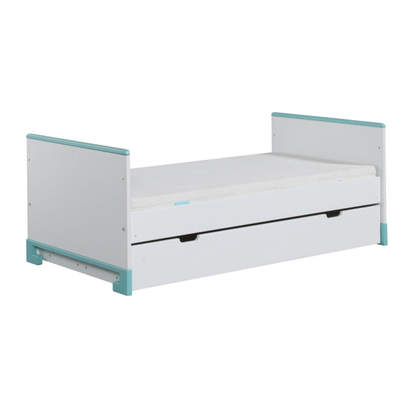 ToTo - cot-bed 140x70,white+turquoise