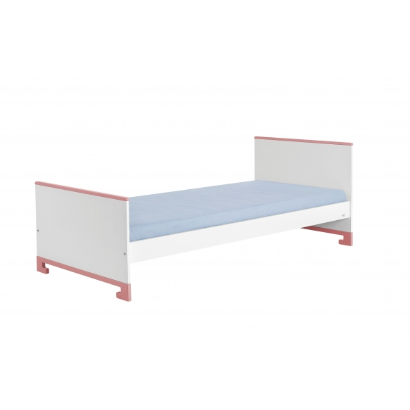 ToTo - junior bed 160x70,white+pink