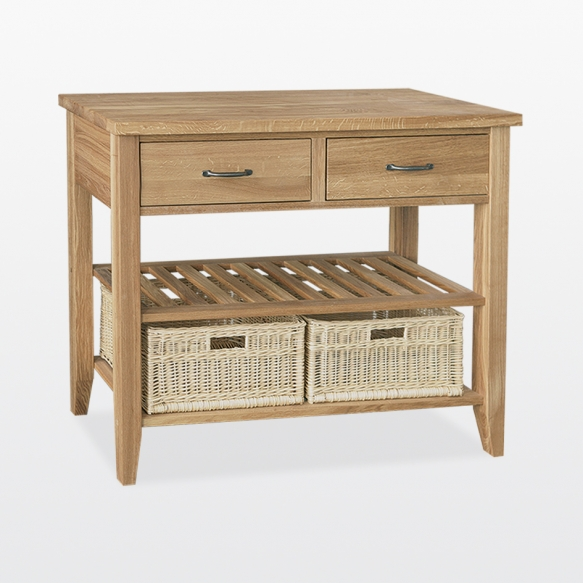 Double basket console table