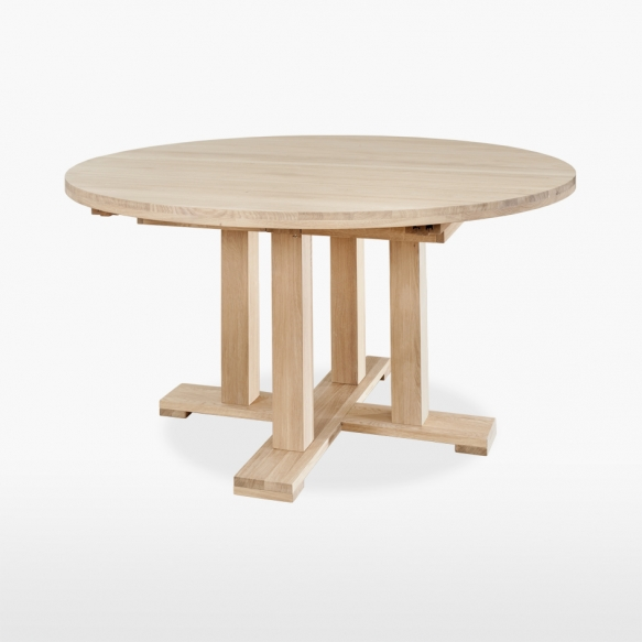 Table - round, extending, single pedestal