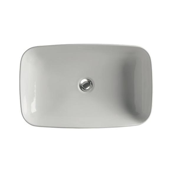 worktop mount basin Tribeca, 60x38 cm