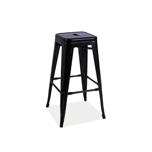 bar stool Industrial 3, mat black
