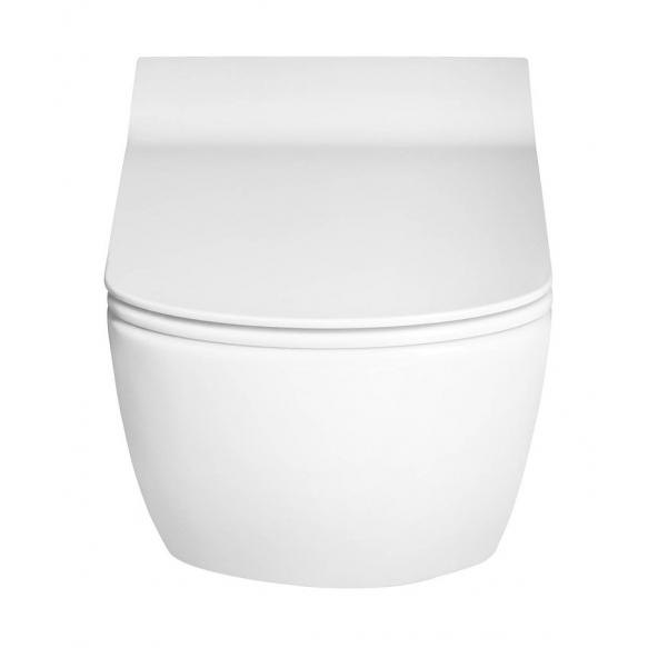 rimless seina wc Elegant, valge, ilma istmeta