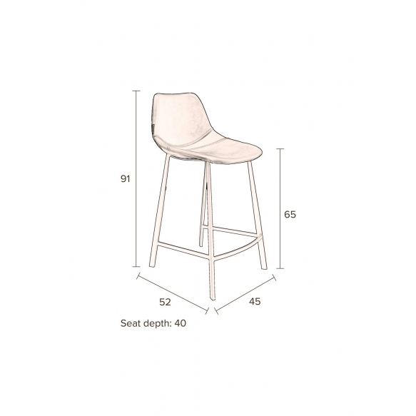 Counter Stool Franky Brown