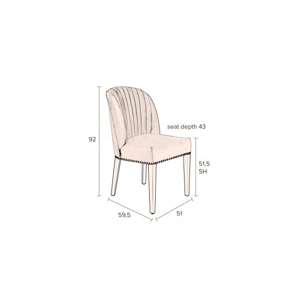 Chair Cassidy Pink Clay