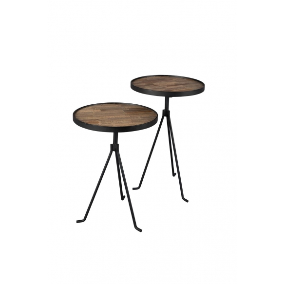 Side Table Tides Set Of 2  - diam 38 cm h: 53 cm and diam 38 cm h: 60 cm