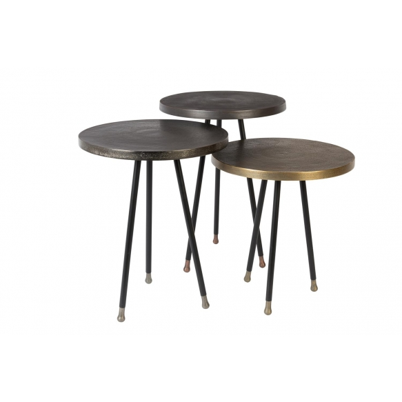 Side Table Alim Set Of 3  - heights 48, 45, 39.5 cm