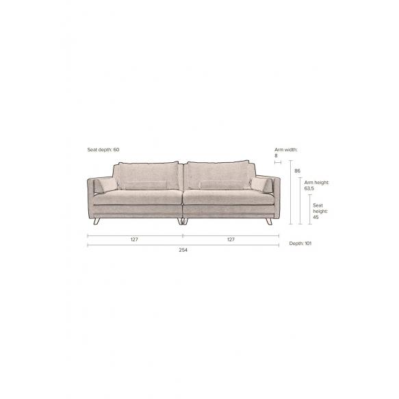 Sofa Linde Dark Grey