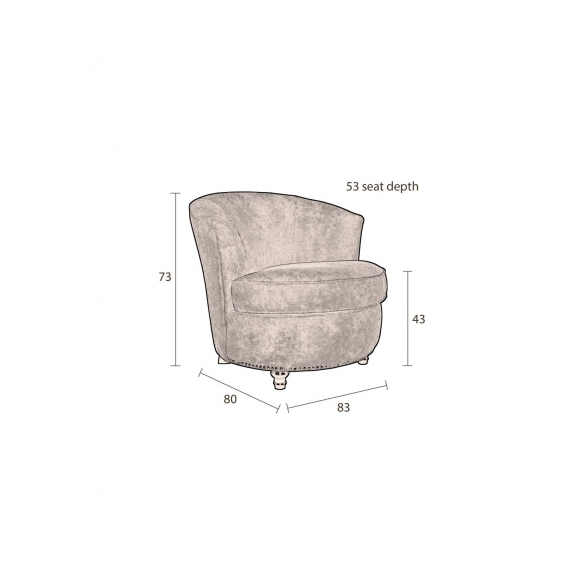 Lounge Chair Freux Brown