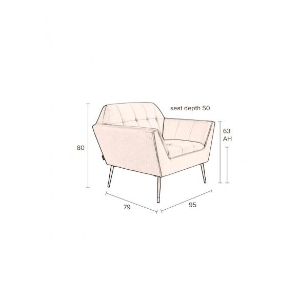 Lounge Chair Kate Black