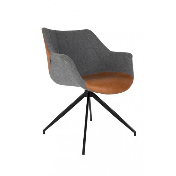 käetugedega tool Doulton, vintage pruun