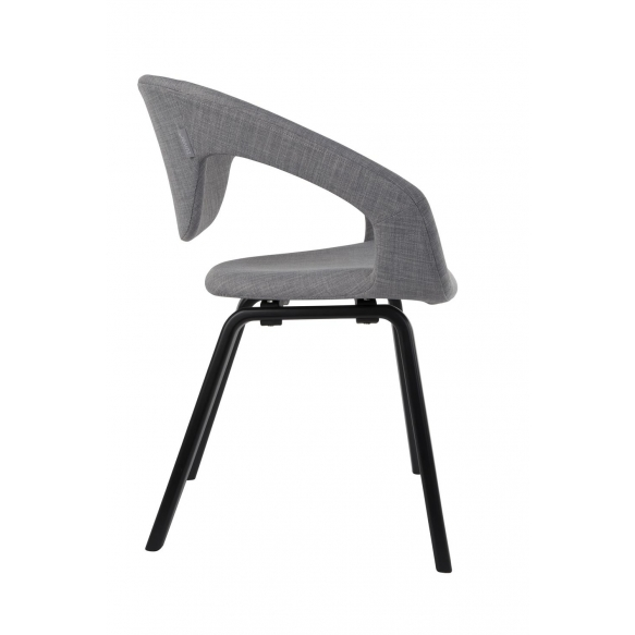 Armchair Flexback Black/Grey