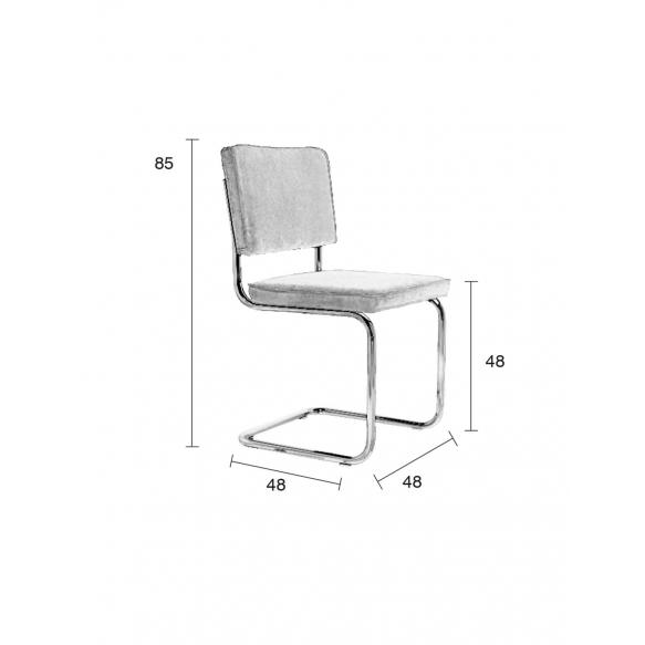 Chair Ridge Brushed Rib Red 21A