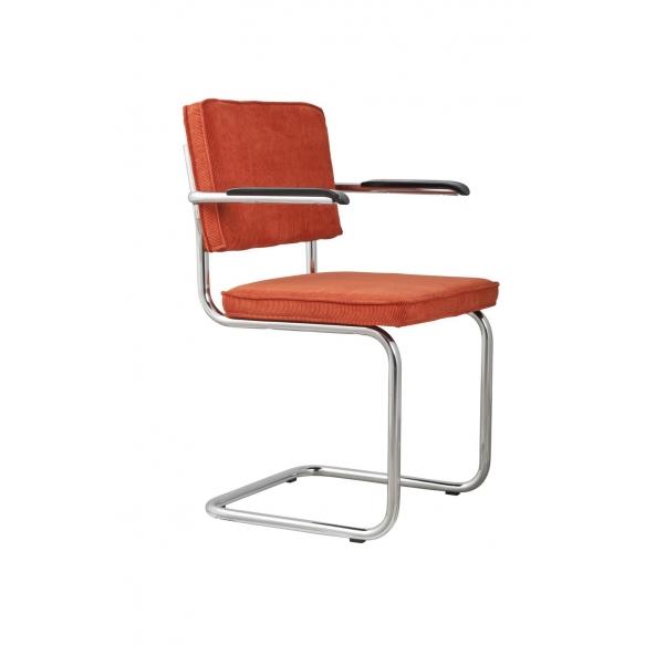 Armchair Ridge Rib Orange 19A