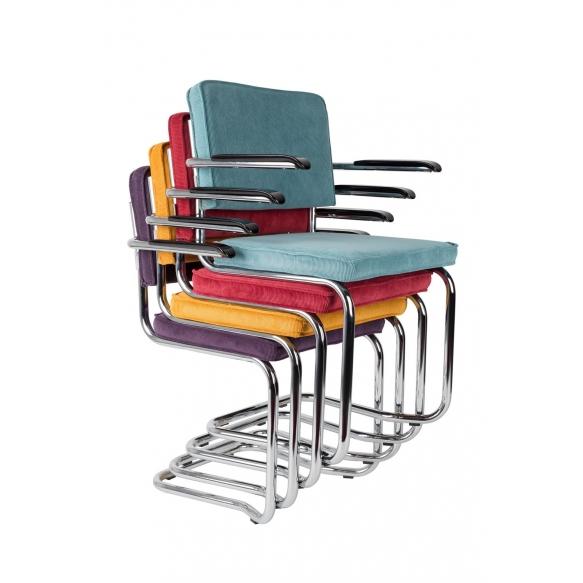 Armchair Ridge Kink Rib Grey 6A