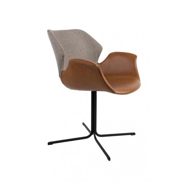käetugedega tool Nikki Fab, pruun