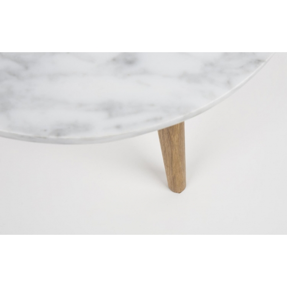 Side Table White Stone M