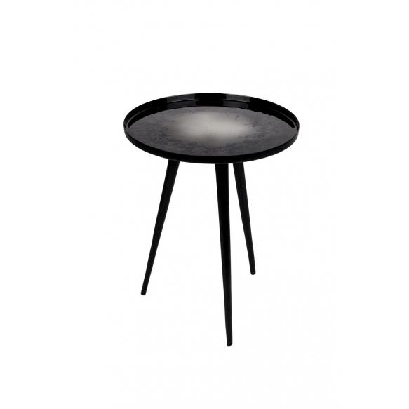 Side Table Flow Set Of 2 Black. S - diam 31 h 40 cm; L diam 40 h 45 cm