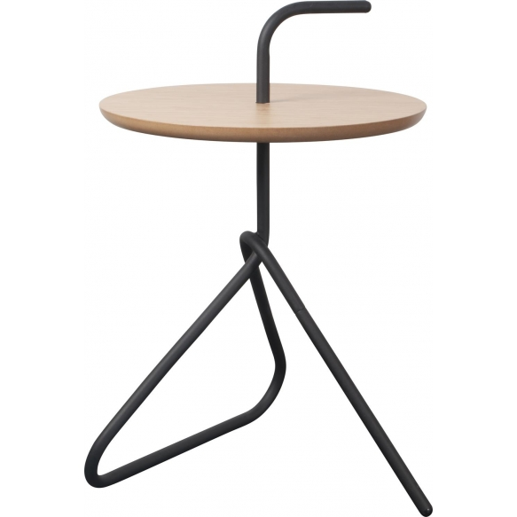 Side Table Handle Bamboo Black