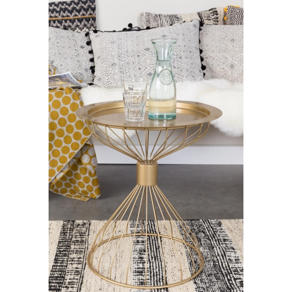 Side Table Kelly Tray Gold
