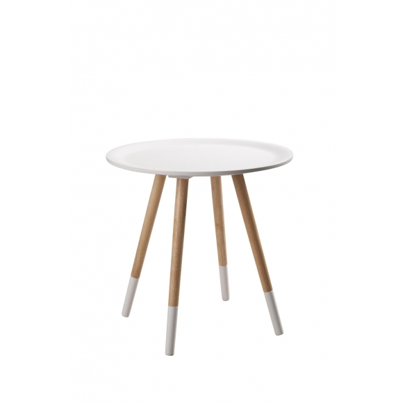 Side Table Two Tone White