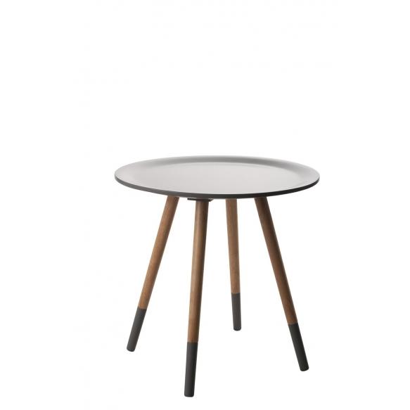 Side Table Two Tone Dark Grey