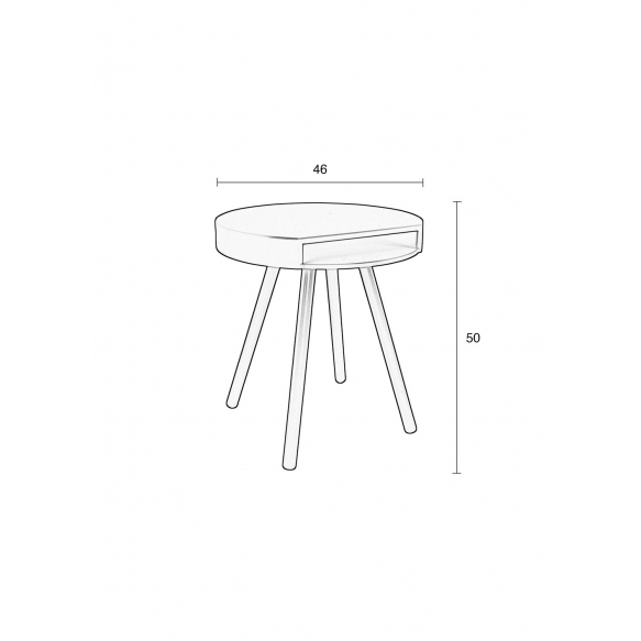 Side Table Hide And Seek White